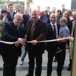 Il taglio del nastro con il presidente Claudio Corsi e il sindaco di Tavarnelle David Baroncelli