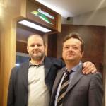 Il vicepresidente vicario di ChiantiBanca Stefano Mecocci con Alessandro Nacci