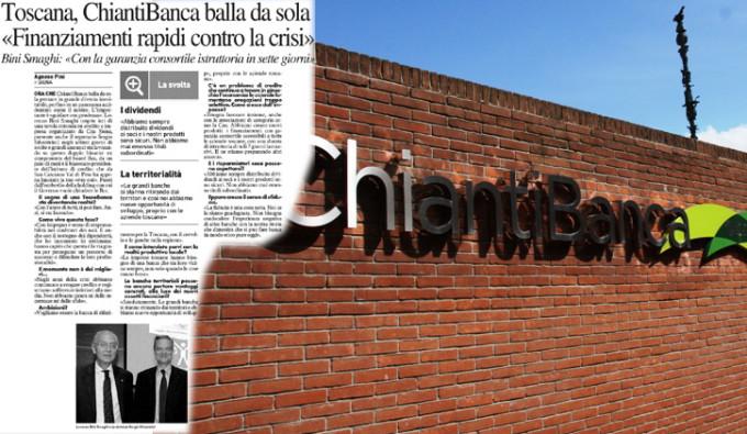 """Toscana, ChiantiBanca balla da sola: """"Finanziamenti rapidi contro la crisi"""""""