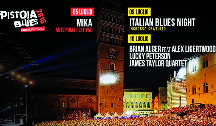 Pistoia Blues 2016: ChiantiBanca dà il suo sostegno